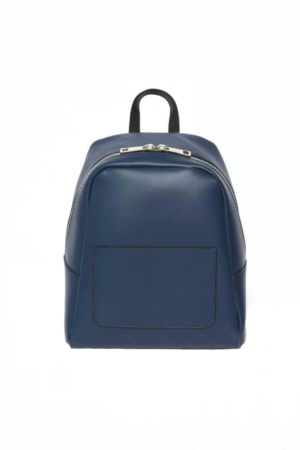 Leather Country Navy Leather Backpack - Main Image