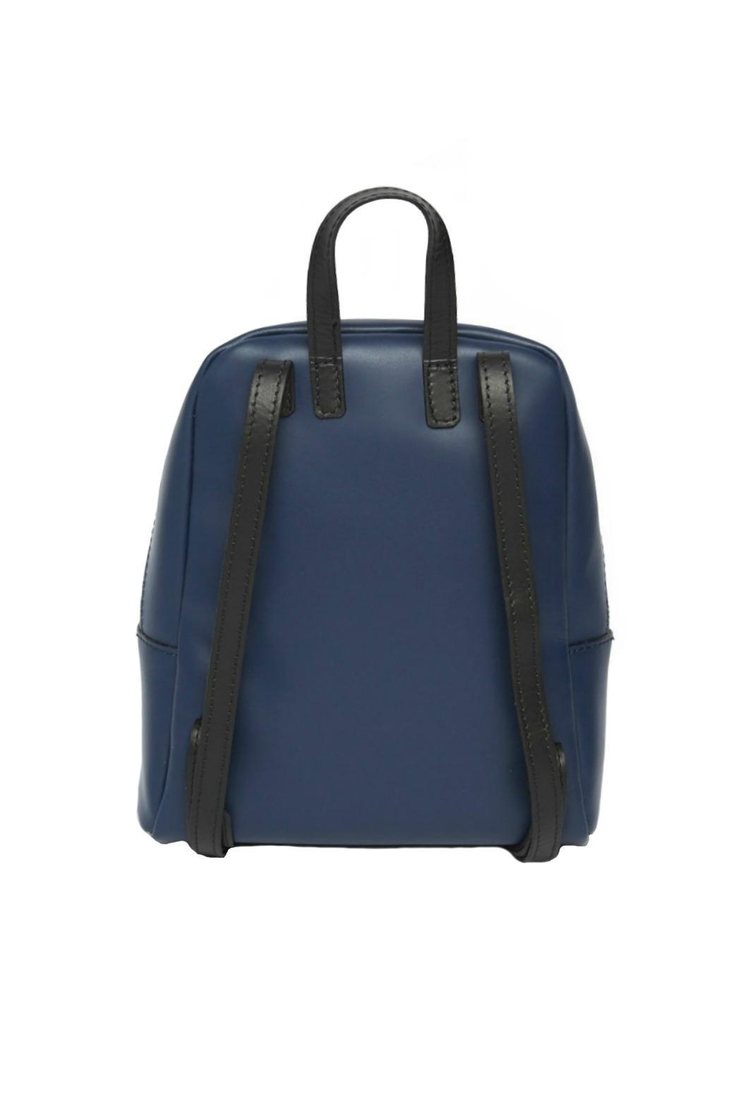 Leather Country Navy Leather Backpack - Side Cropped Image