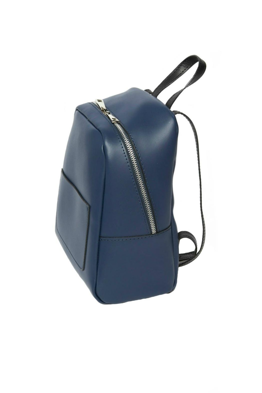 Leather Country Navy Leather Backpack - Front Full Image
