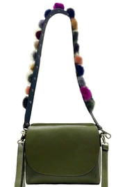 Leather Country Pompom Bag Strap - Front full body