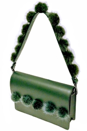 Leather Country Pompom Bag Strap - Product Mini Image