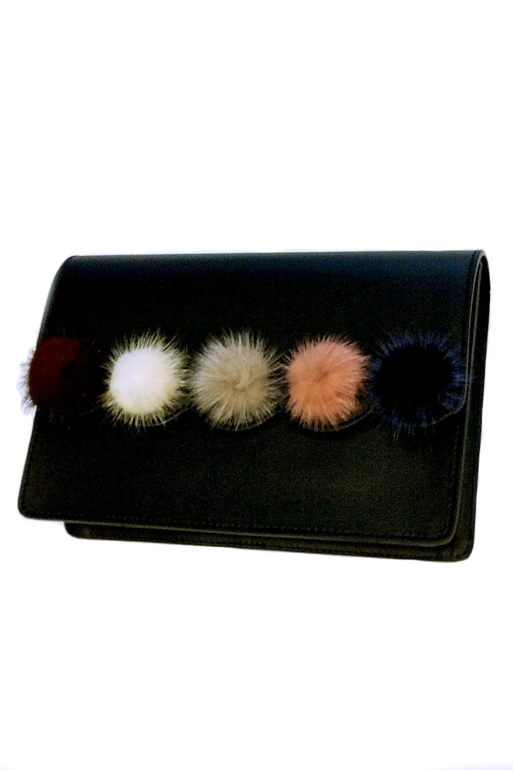 Leather Country Pompom Leather Bag - Side Cropped Image