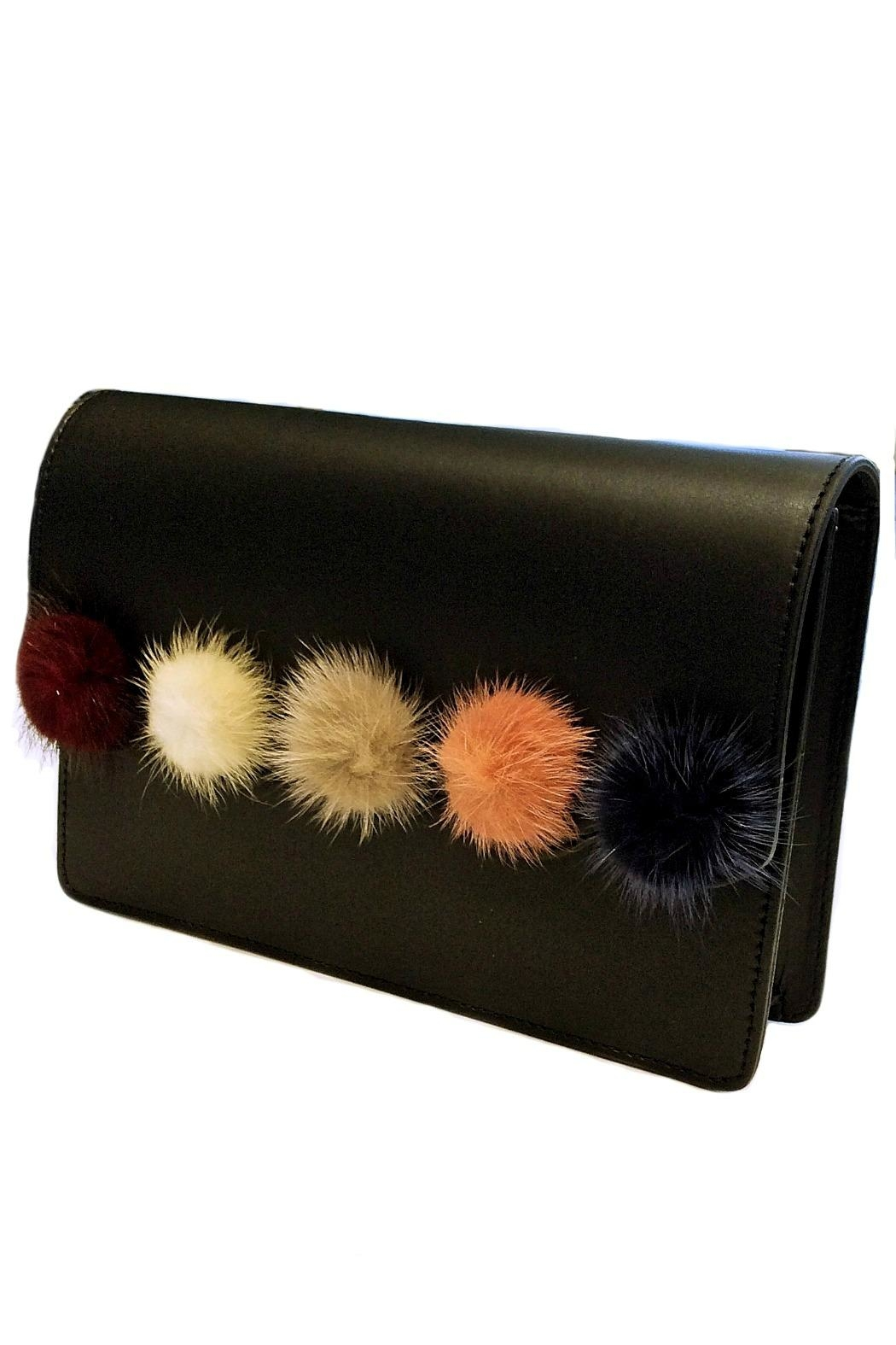 Leather Country Pompom Leather Bag - Main Image