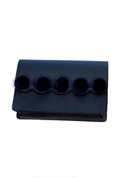 Leather Country Pompom Leather Bag - Product List Image