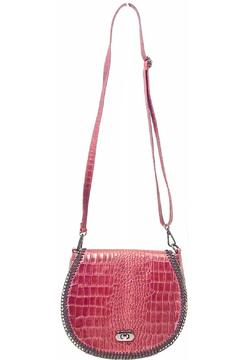 Leather Country Round Shoulder Bag - Product List Image