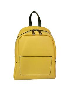 Shoptiques Product: Yellow Leather Backpack