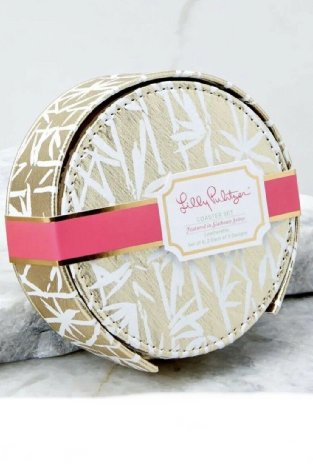 Lilly Pulitzer  Leatherette Coaster Set (6 Assorted) - Main Image