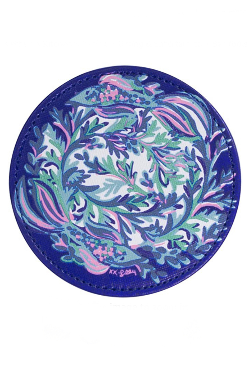 Lilly Pulitzer  Leatherette Coaster Set (6 Assorted) - Back Cropped Image