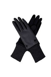 Lets Accessorize Leatherette Gloves - Front cropped