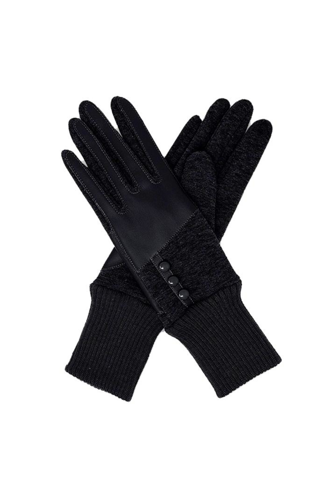 Lets Accessorize Leatherette Gloves - Main Image
