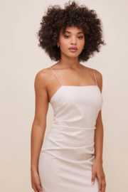ASTR the Label Leatherette Square Neck Mini Dress - Front cropped