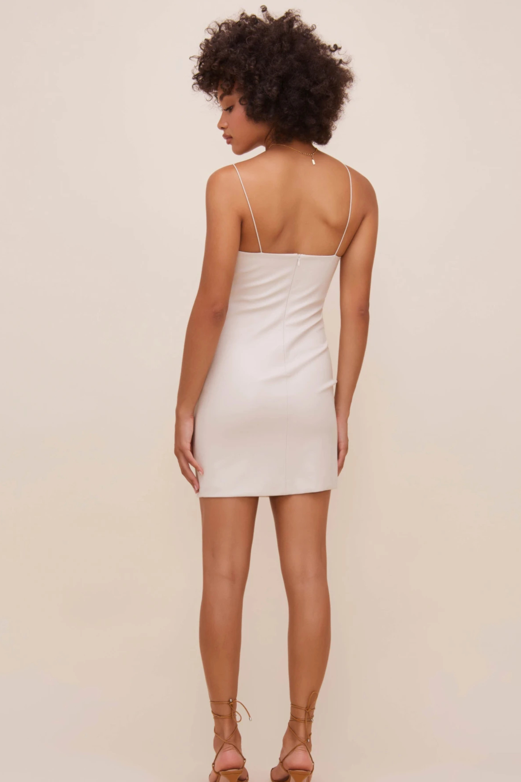 ASTR the Label Leatherette Square Neck Mini Dress - Side Cropped Image