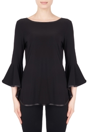Joseph Ribkoff Leatherette Trim Top - Front cropped