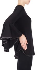 Joseph Ribkoff Leatherette Trim Top - Front full body