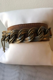 Leatherock Leather Brass Cuff - Product Mini Image