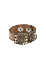 Leatherock Leather Studded Bracelet - Product Mini Image