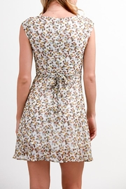 Fashion Pickle Leaves Print Dress - Front full body