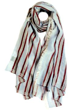 Shoptiques Product: Wine Striped Scarf