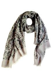 LeCamp Grey Floral Paisley Scarf - Product Mini Image