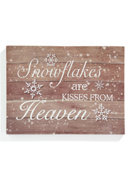 Gift Craft LED Snowflake Kisses-Print - Front cropped