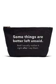 LA Trading Co. Left Unsaid Pouch - Front cropped