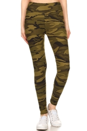 Leg Avenue Camoflauge Yoga Pants - Front cropped