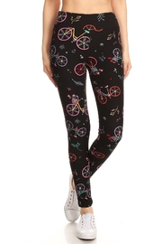 Leg Avenue Colorful Bike Leggings - Front cropped