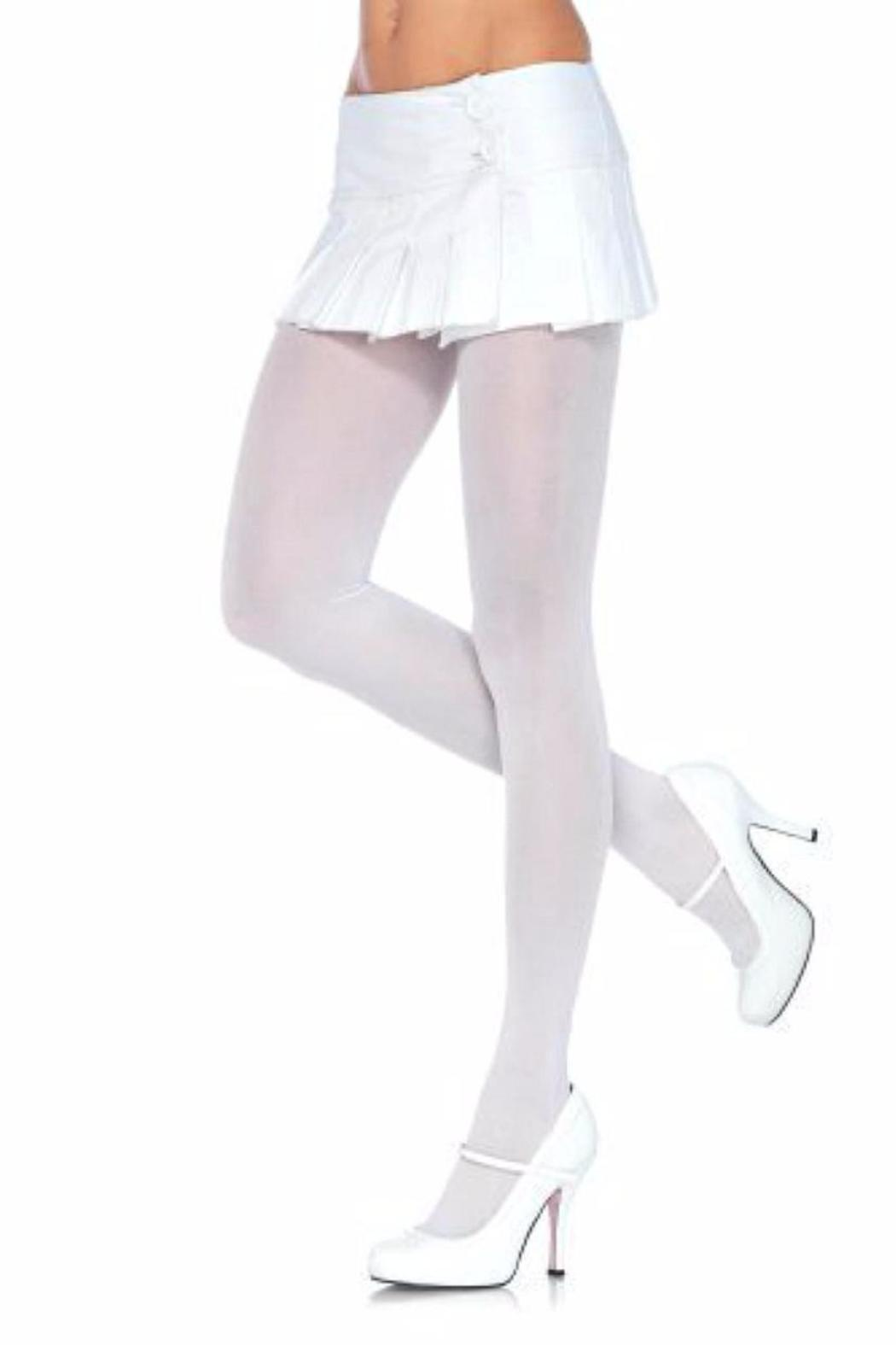 Leg Avenue Opaque Nylon Tights - Front Cropped Image