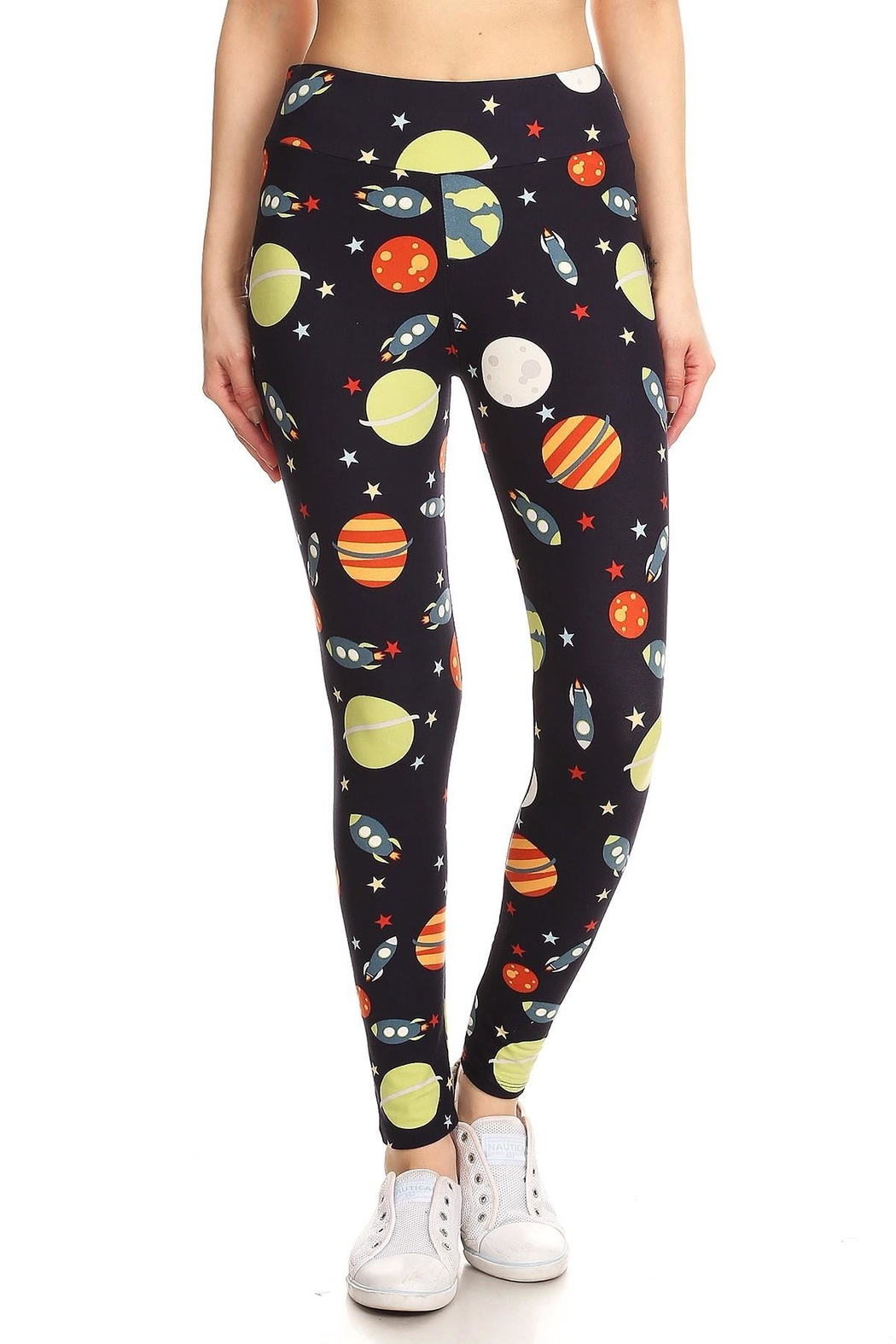 Leg Avenue Outerspace Leggings - Front Cropped Image