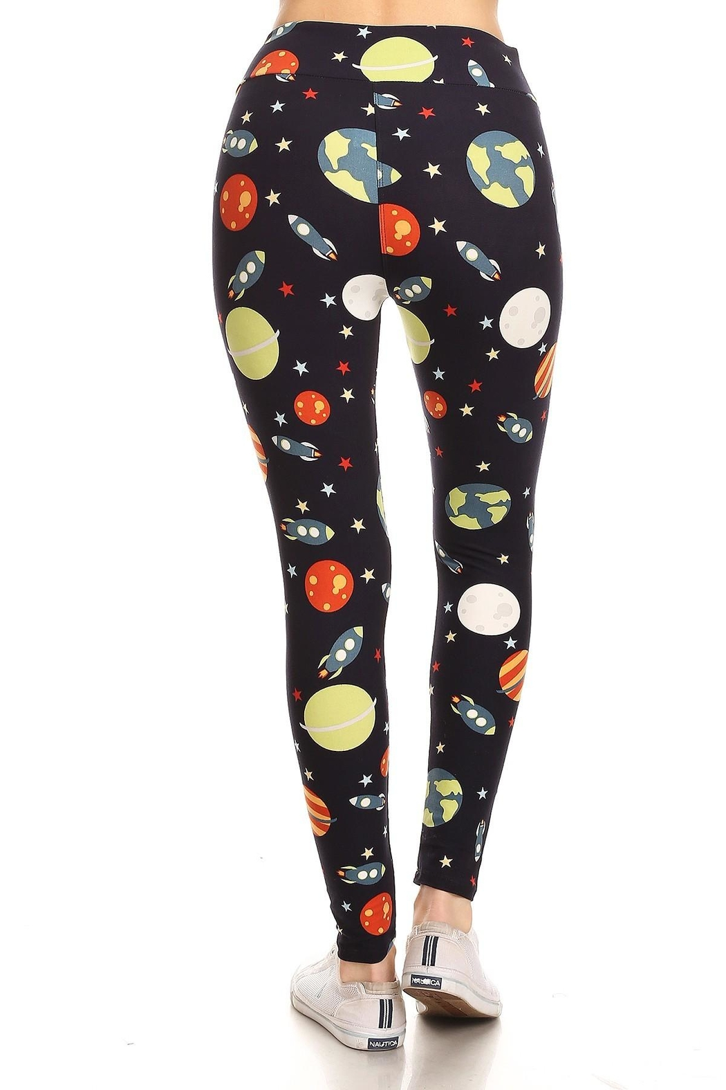 Leg Avenue Outerspace Leggings - Front Full Image