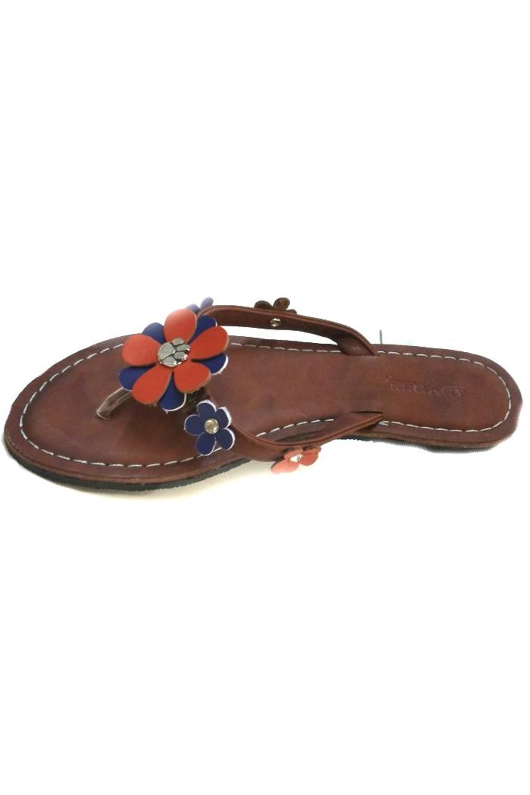 Legacy Athletic Clemson Tiger-Leather Sandals - Main Image