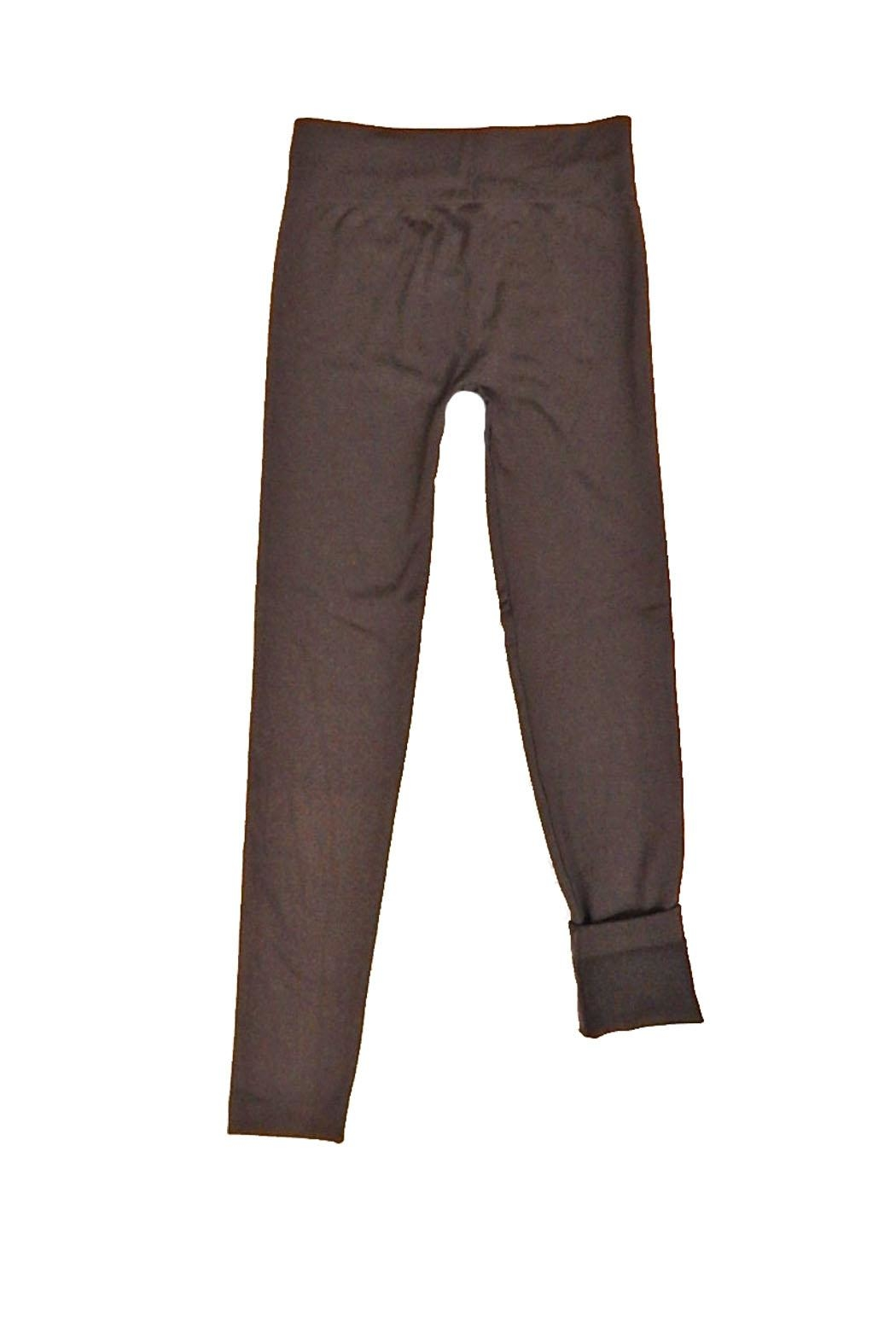 Yahada Leggings Fleece Brown - Front Full Image
