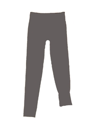 Yahada Leggings Fleece Charcoal - Product Mini Image