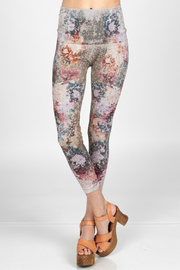 M. Rena Leggings with dancing peonies sublimation print - Product Mini Image