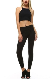 LEGGINGS MANIA Soft Leggings With Wide Band - Front cropped