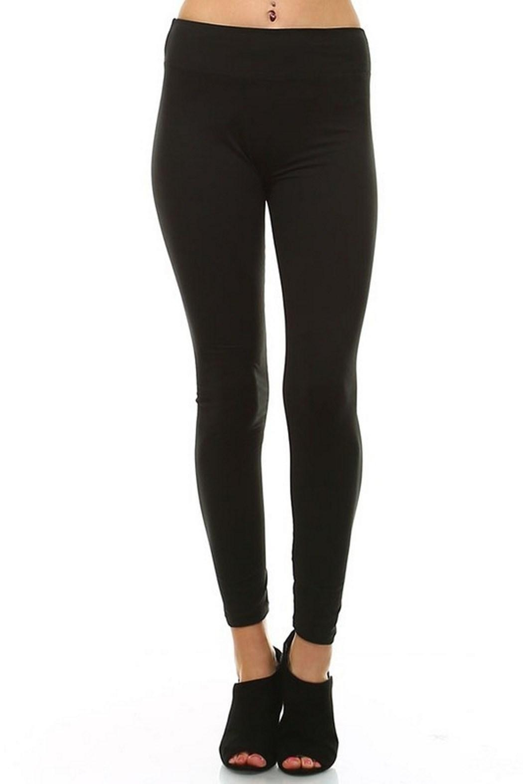 LEGGINGS MANIA Soft Leggings With Wide Band - Side Cropped Image