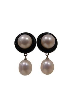 Leigh Fortington Pearl, Onyx Earrings - Alternate List Image