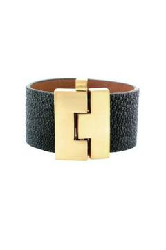 Leighelena Black Stingray Cuff - Product List Image