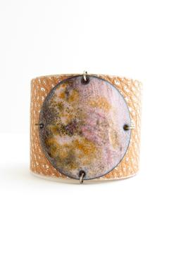 Leighelena Pink Citrus Enamel Cuff - Product List Image