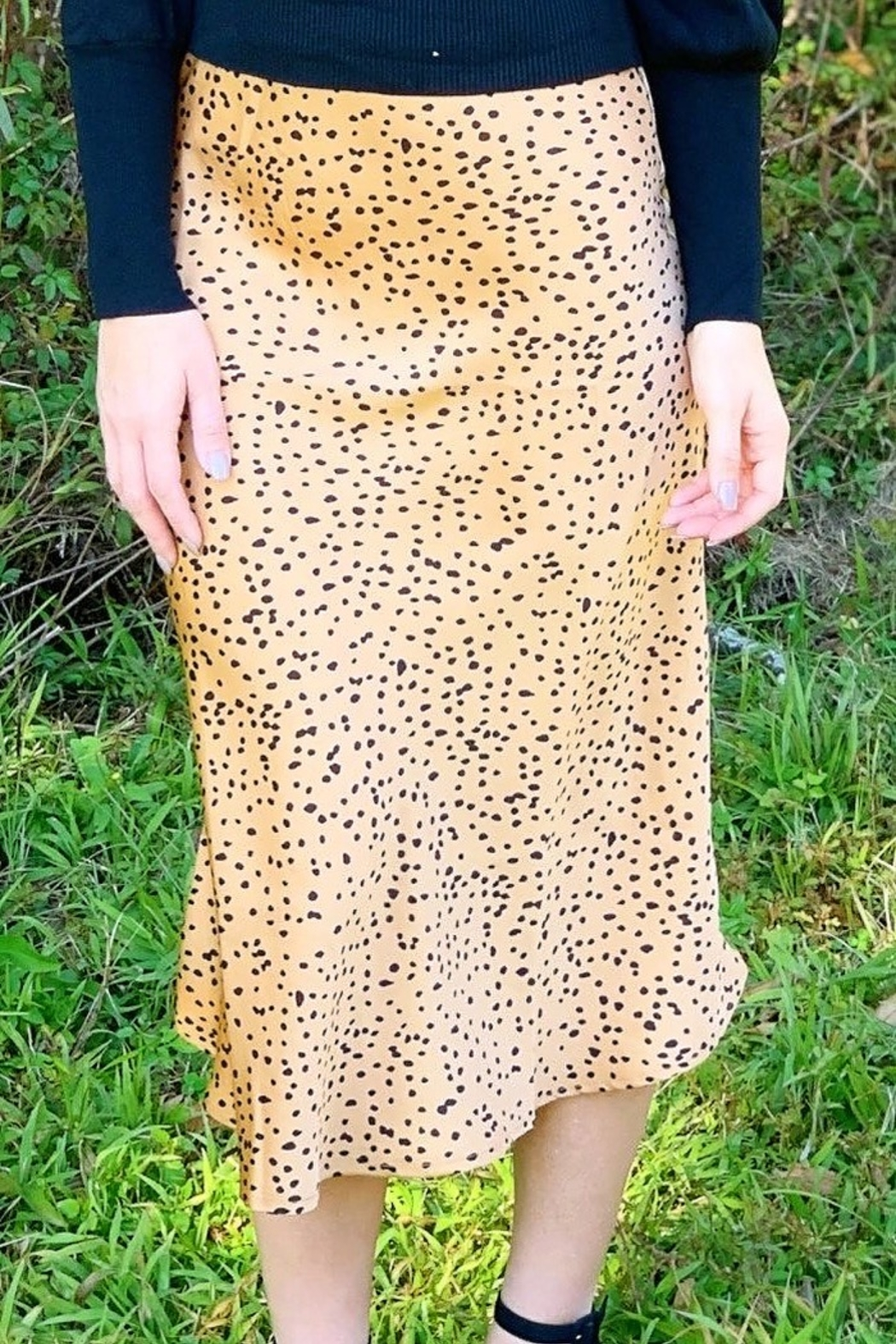 Trend Notes  Leila Cheetah Skirt - Front Full Image