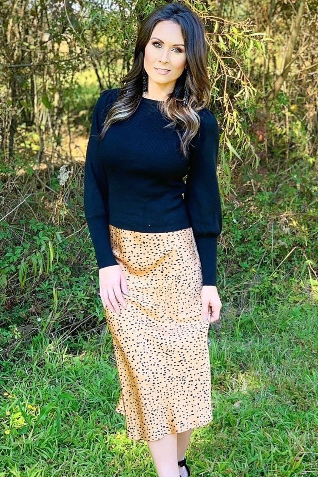 Trend Notes  Leila Cheetah Skirt - Main Image