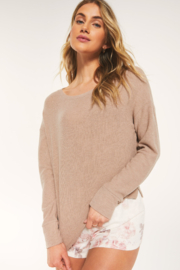 z supply Leila Rib Long Sleeve Top - Product Mini Image