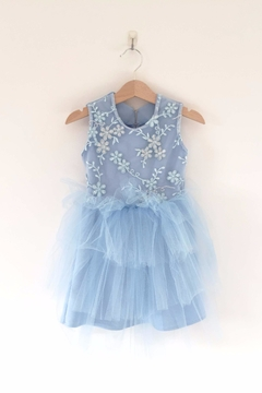 Shoptiques Product: Blue Embroidered Tulle