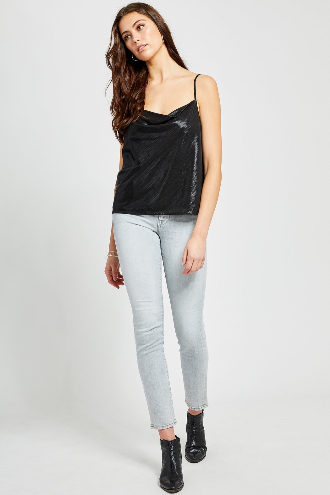 Gentle Fawn Leith Metallic Tank - Front Cropped Image