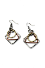 Anju Handcrafted Artisan Jewelry Lela Three-Tone Earrings - Product Mini Image