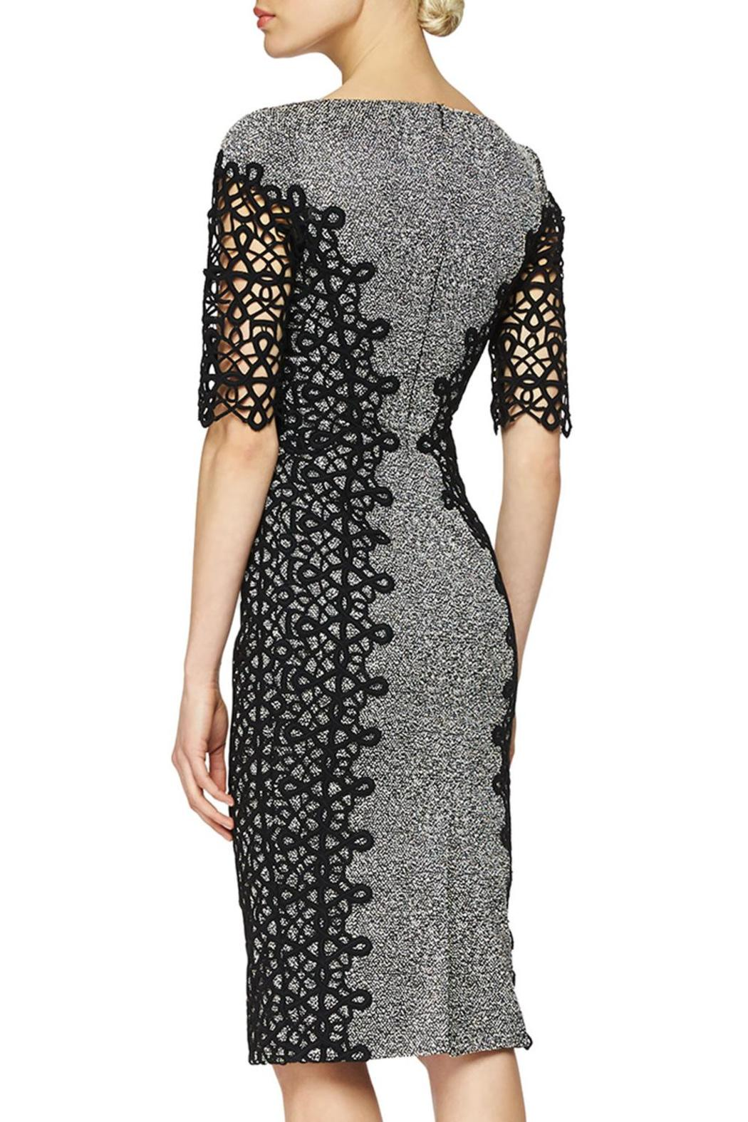 Lela Rose  Lace Placed Dress - Front Full Image