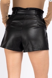 lelis Belted Pleather Shorts - Front full body