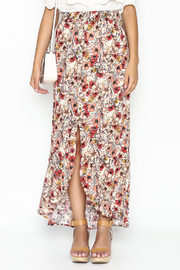 lelis Floral Wrap Skirt - Front full body