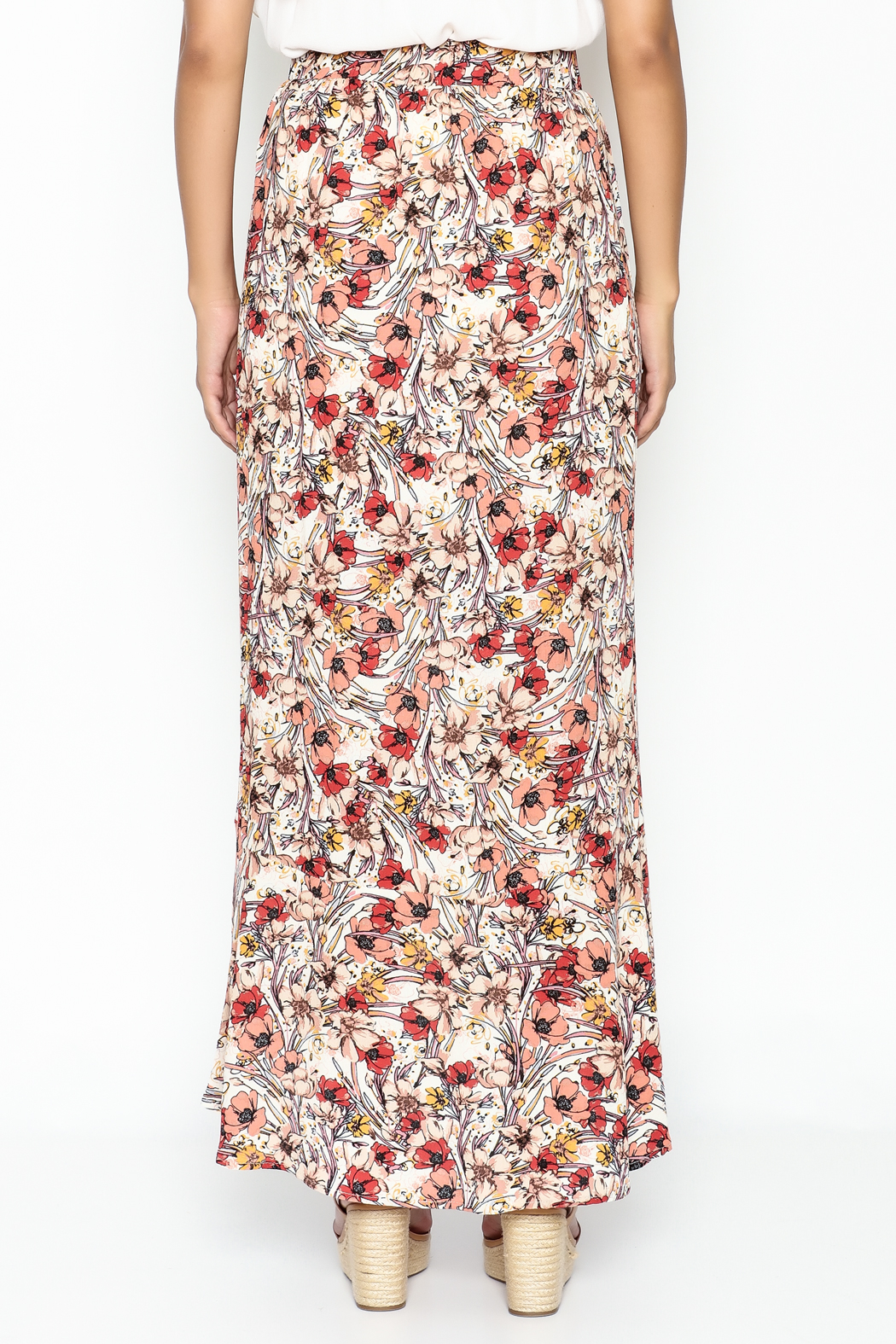 lelis Floral Wrap Skirt - Back Cropped Image