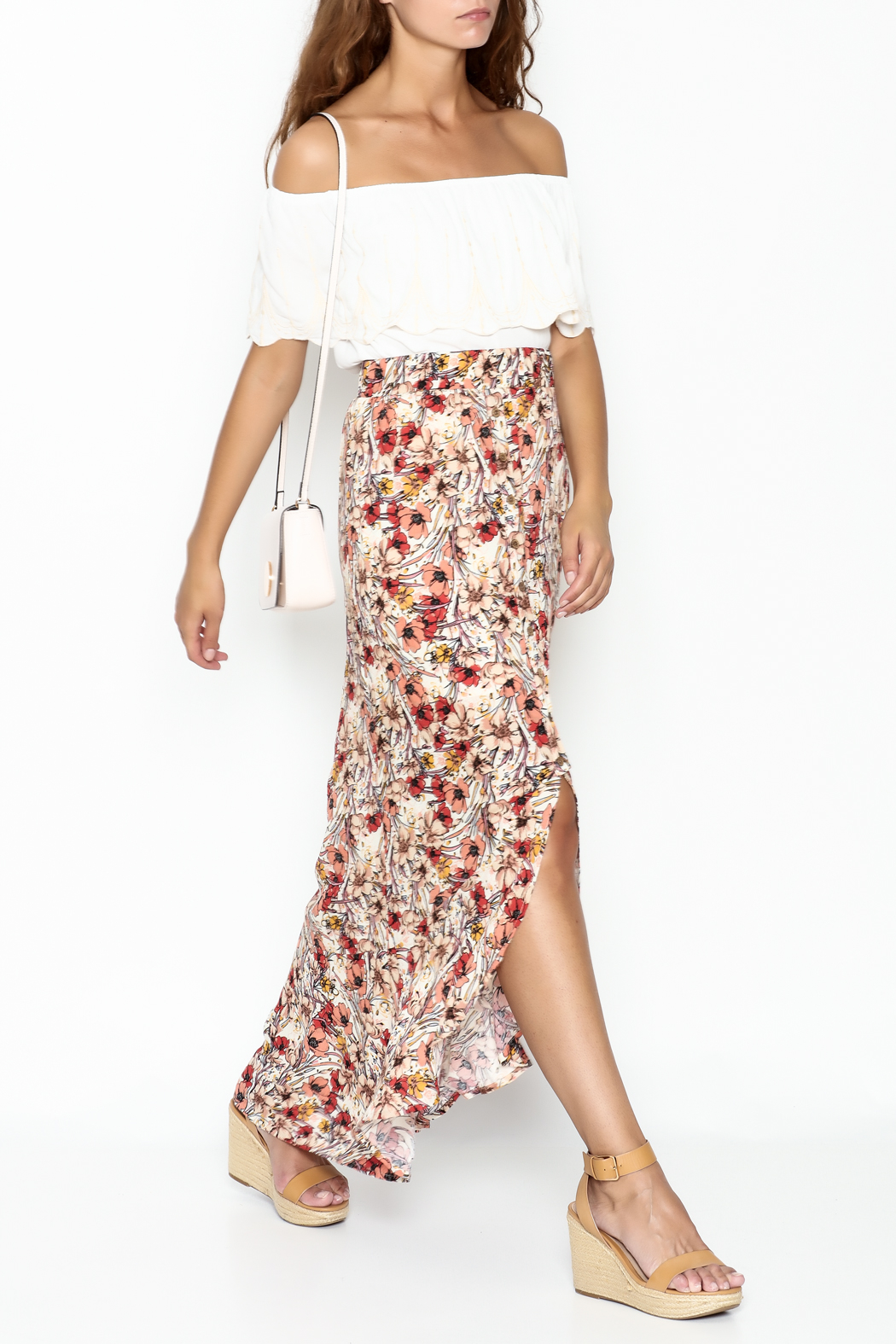 lelis Floral Wrap Skirt - Side Cropped Image